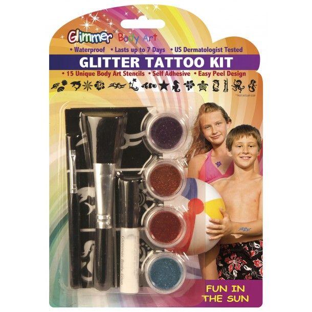 Kit tatouages à paillettes