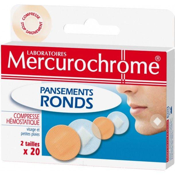 PANSEMENTS RONDS MERCUROCHROME
