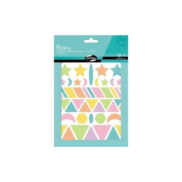 Autocollants Baby Géométriques pastels
