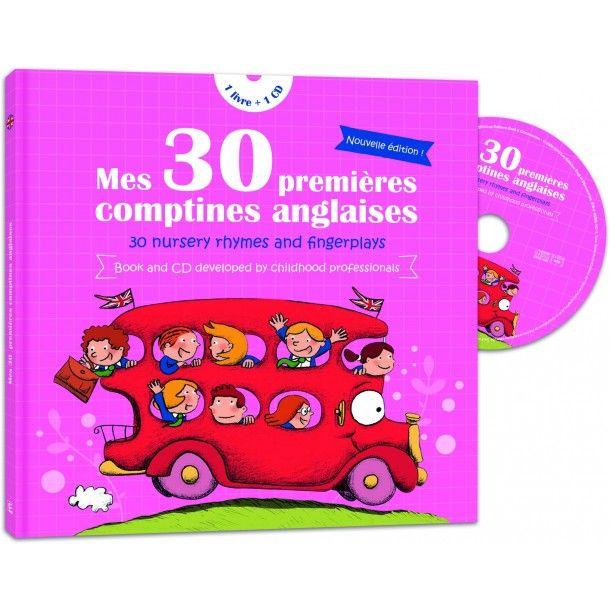 Livre CD Mes 30 premières comptines anglaises