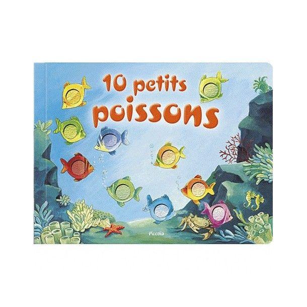 Livre cartonné 10 petits poissons