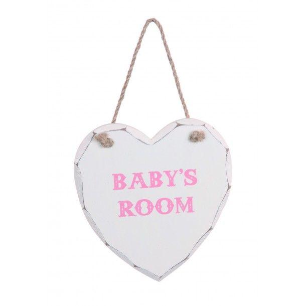 "Panneau en bois ""Baby's room"""