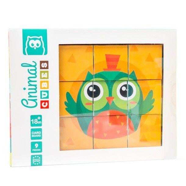 Cubes d'animaux casse-tête