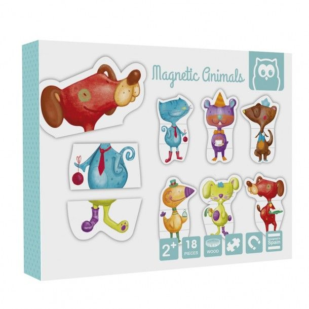 Puzzle magnétique animal