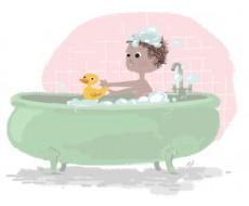 Novembre 12 - A l'heure du bain !