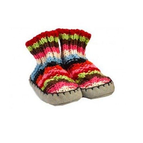 Petits chaussons en coton bio 3/6 mois