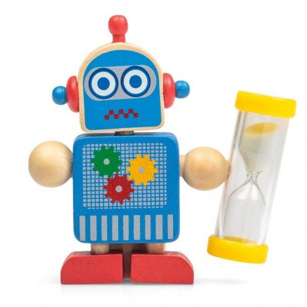 Porte brosse à dents - minuteur robot