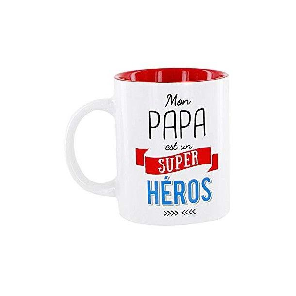 """Mug """"Mon Papa est un Super-Héro"""""""