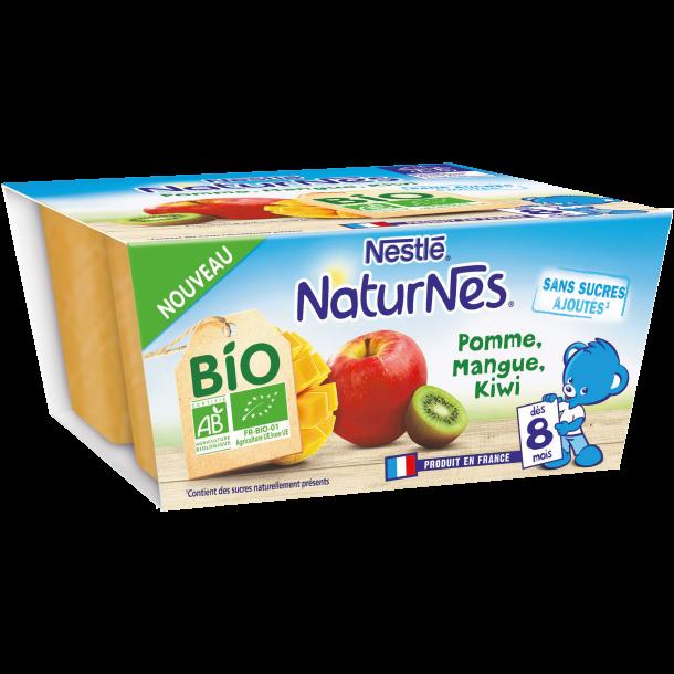 NATURNES® BIO Pomme, Mangue, Kiwi (4x90g)