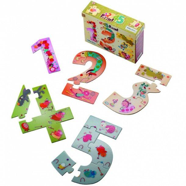 Puzzle des chiffres 1, 2, 3