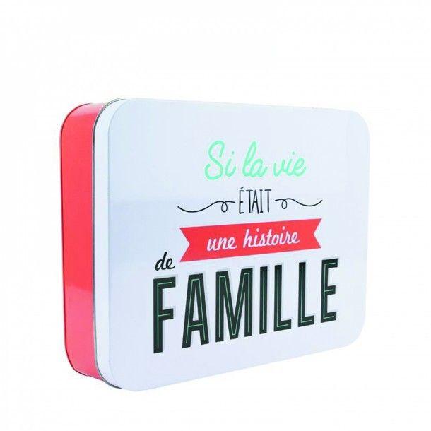 """Boîte métal """"Histoire de Famille"""""""