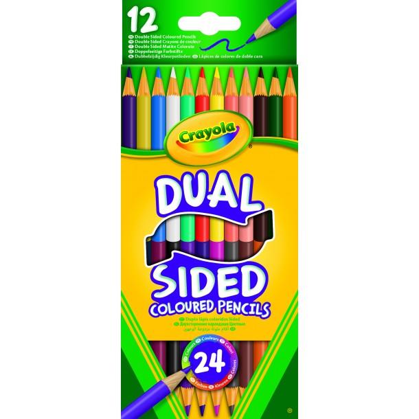 Crayons de couleur dual sided