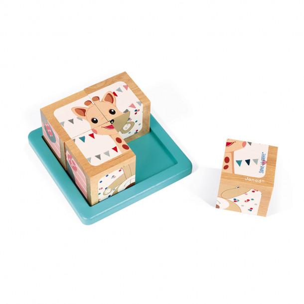 Barquette de 4 cubes - Sophie la Girafe