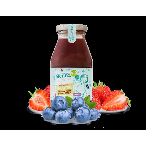 Smoothie myrtille fraise vanille
