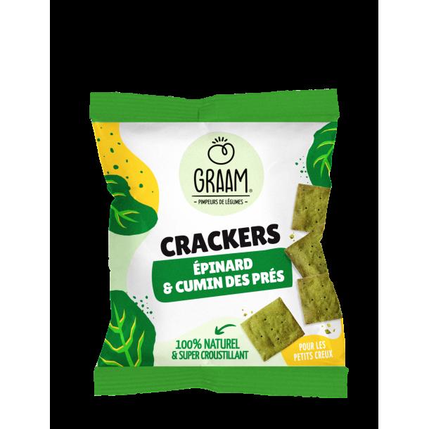 Crackers Épinard & Cumin des prés