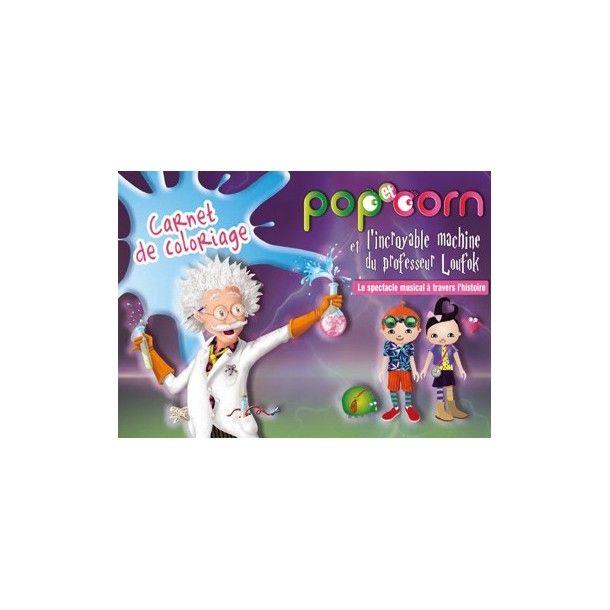 Carnet de coloriages Pop et Corn