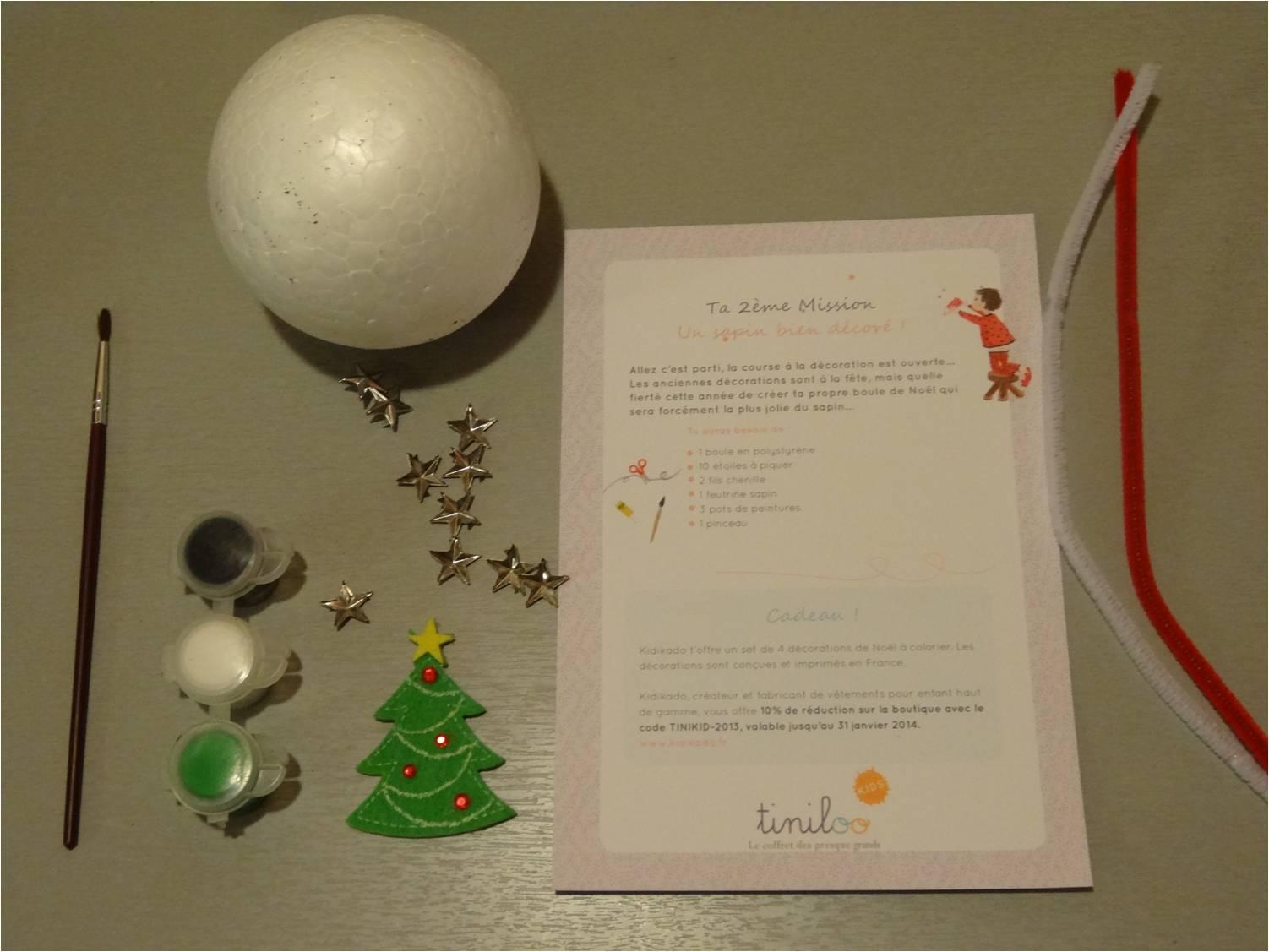 Une boule de Noël en polystyrène à décorer !  Tiniloo