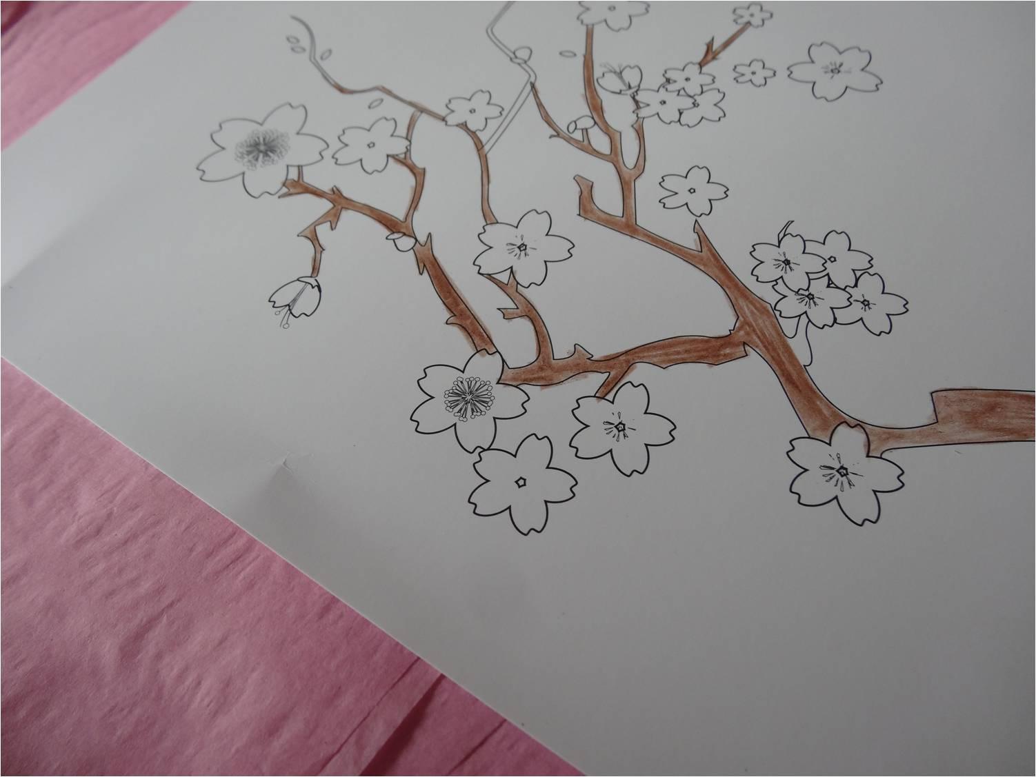 mon cerisier japonais en papier de soie tiniloo. Black Bedroom Furniture Sets. Home Design Ideas