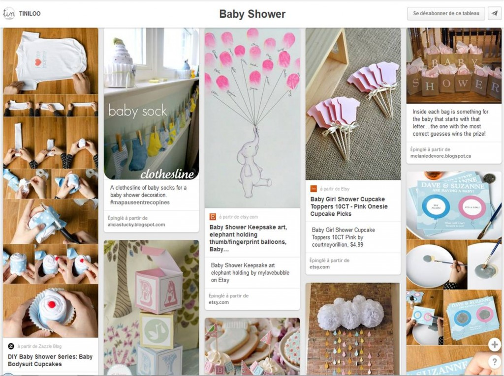 baby shower idees pinterest