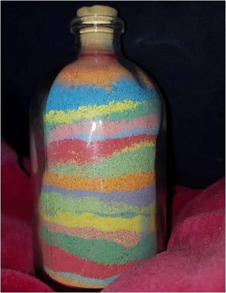 bouteille sable color - Sable Colore