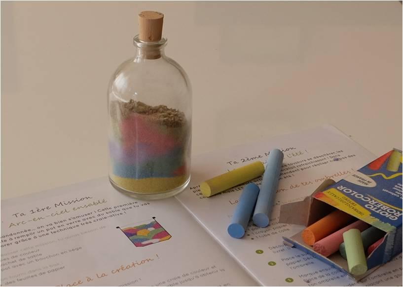 Sable color avec des craies le tuto tiniloo for Sable decoratif de couleur